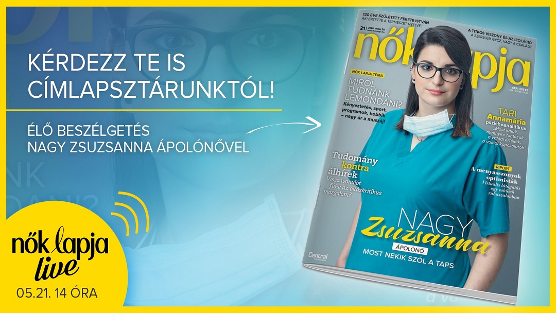 The front page of Nők Lapja featured a nurse instead of a celebrity