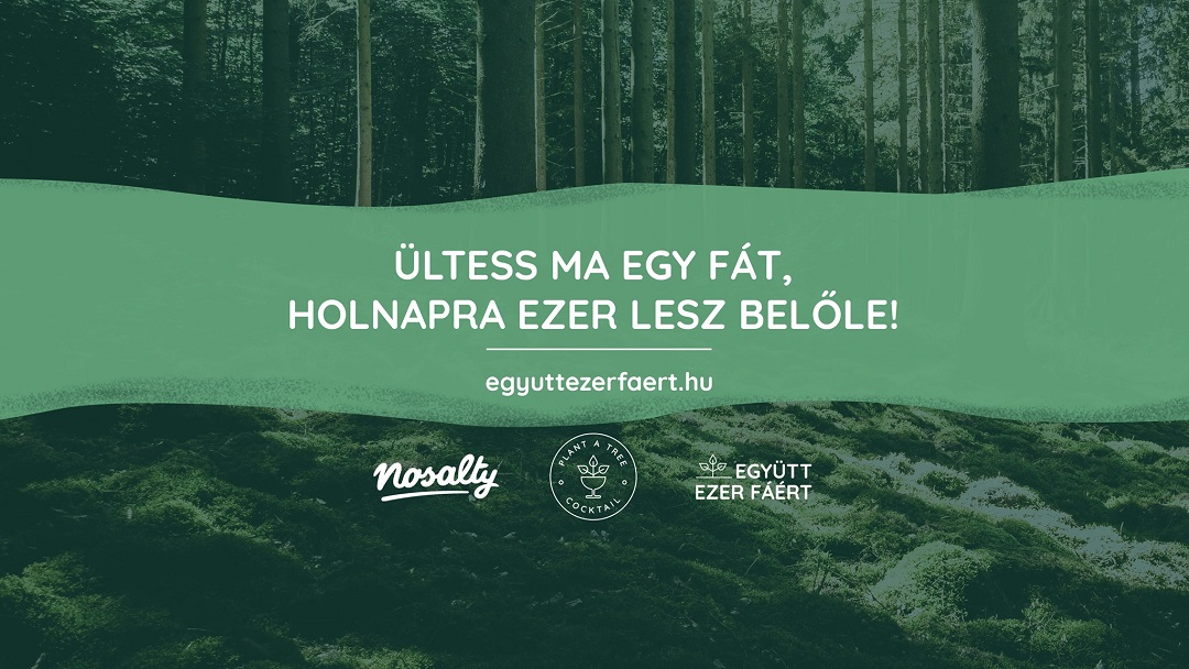 Együtt ezer fáért! (Together for one thousand trees) – The joint campaign of Nosalty and the Plant A Tree Cocktail has started