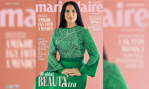 Roma énekesnő a Marie Claire új címlapján!