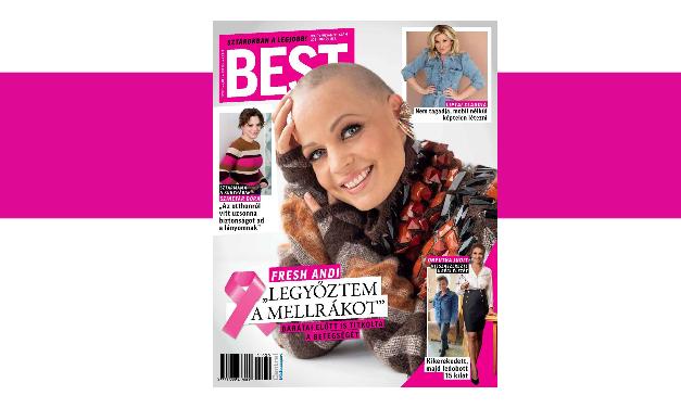 Szívszorító címlap a Besttől a mellrák elleni küzdelem világnapján